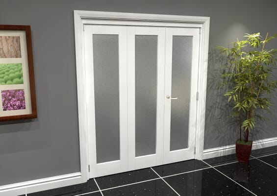 White P10 Frosted Roomfold Grande 1800mm 2 + 1 Set