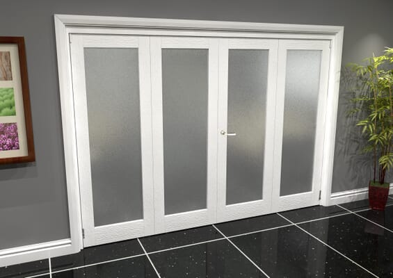 White P10 Frosted Roomfold Grande (2 + 2 x 762mm Doors)