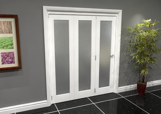 White P10 Frosted Roomfold Grande 1800mm 3 + 0 Set