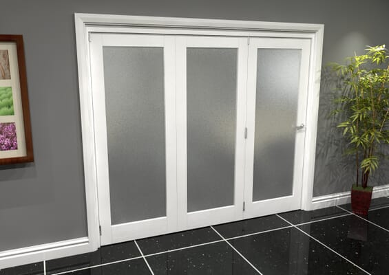 White P10 Frosted Roomfold Grande (3 + 0 x 762mm Doors)