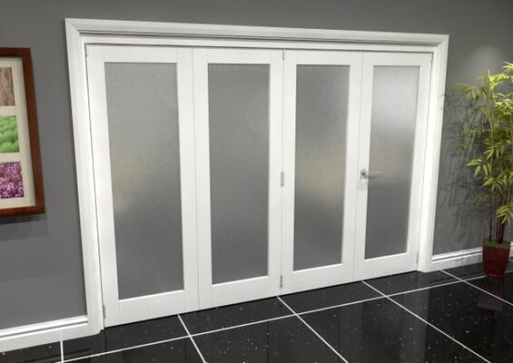 White P10 Frosted Roomfold Grande (3 + 1 x 686mm Doors)
