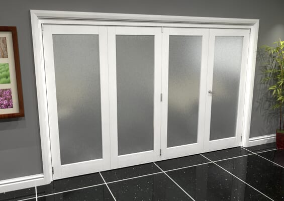 White P10 Frosted Roomfold Grande (3 + 1 x 762mm Doors)