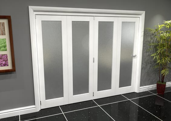 White P10 Frosted Roomfold Grande (4 + 0 x 610mm Doors)