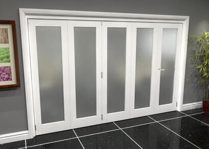 White P10 Roomfold Grande - Frosted