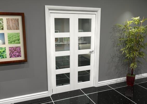 White 4L Roomfold Grande (2 + 0 x 573mm Doors)