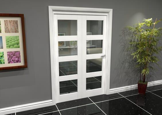 White 4L Roomfold Grande (2 + 0 x 610mm Doors)