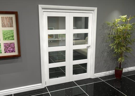 White 4L Roomfold Grande (2 + 0 x 686mm Doors)