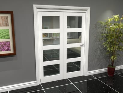 White 4l Roomfold Grande - Clear Image