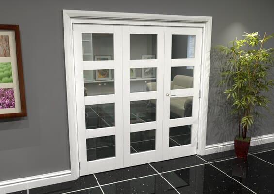 White 4L Roomfold Grande (2 + 1 x 610mm Doors)