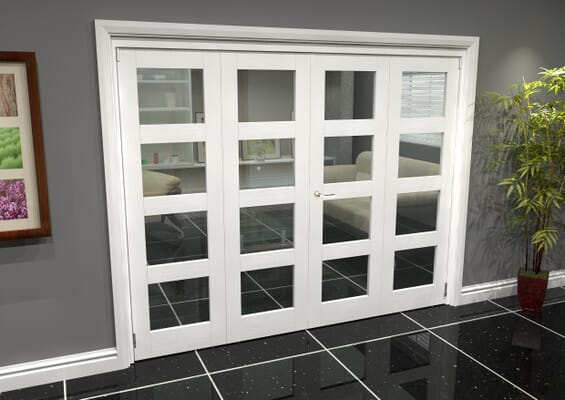 White 4L Roomfold Grande (2 + 2 x 610mm Doors)