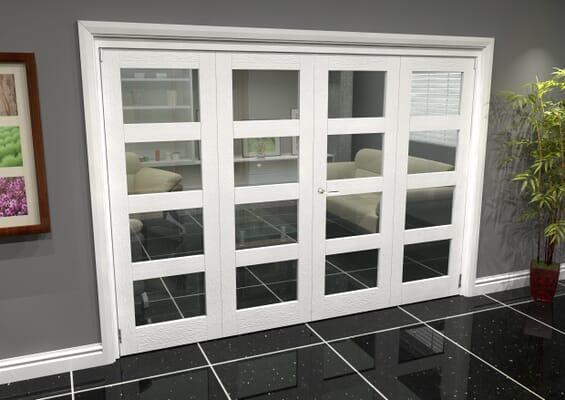 White 4L Roomfold Grande (2 + 2 x 762mm Doors)
