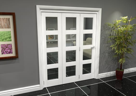 White 4L Roomfold Grande (3 + 0 x 533mm Doors)