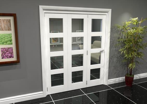 White 4L Roomfold Grande 1800mm 3 + 0 Set