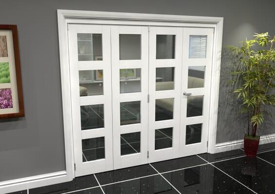 White 4L Roomfold Grande (3 + 1 x 533mm Doors)