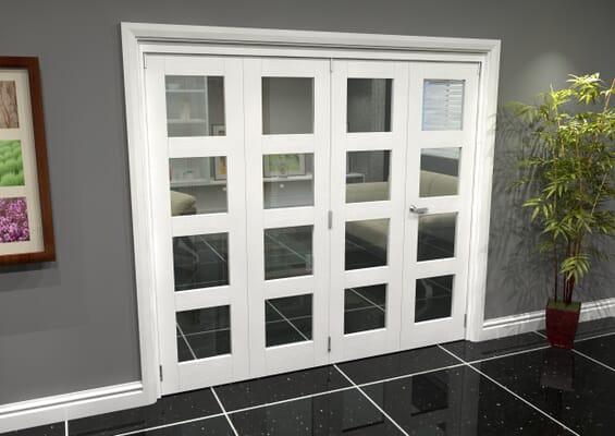 White 4L Roomfold Grande 2400mm 3 + 1 Set