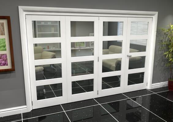 White 4L Roomfold Grande (3 + 1 x 762mm Doors)