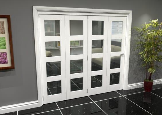 White 4L Roomfold Grande (4 + 0 x 533mm Doors)