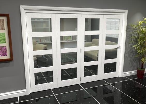 White 4L Roomfold Grande (4 + 0 x 762mm Doors)