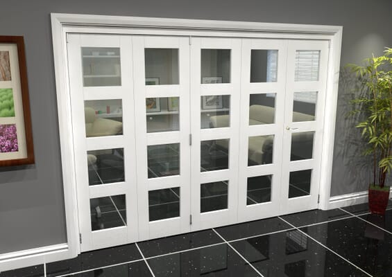 White 4L Roomfold Grande (4 + 1 x 533mm Doors)
