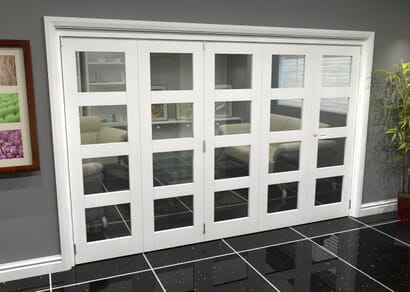 White 4L Roomfold Grande - Clear