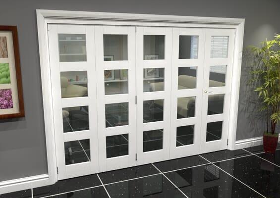White 4L Roomfold Grande (4 + 1 x 686mm Doors)