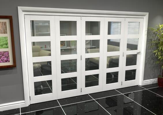 White 4L Roomfold Grande (5 + 0 x 610mm Doors)