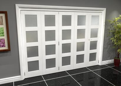 White 4L Roomfold Grande - Frosted