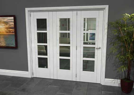 Iseo White 4 Light Clear 3 Door Roomfold Grande (3 + 0 x 686mm Doors)
