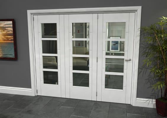 Iseo White 4 Light Clear 3 Door Roomfold Grande (3 + 0 x 762mm Doors)