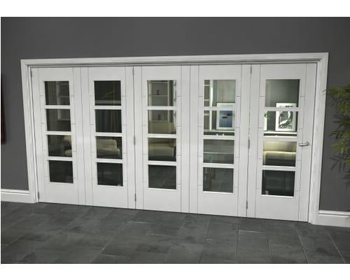 White Iseo Roomfold Grande - 4 Light Clear Internal Bifold Doors