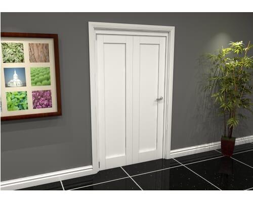 White 1p Shaker Roomfold Grande Internal Bifold Doors