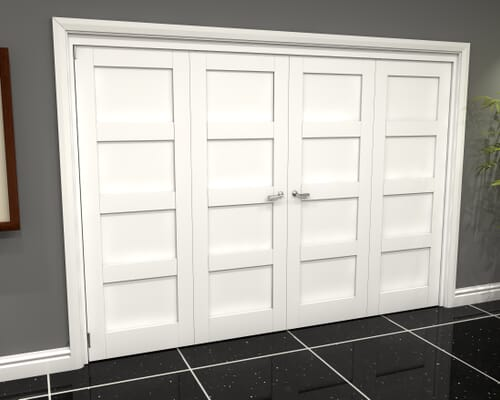 White 4p Shaker Roomfold Grande Internal Bifold Doors