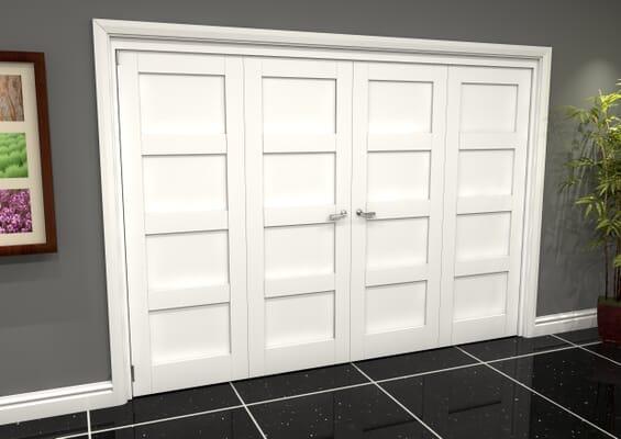 White 4P Shaker Roomfold Grande