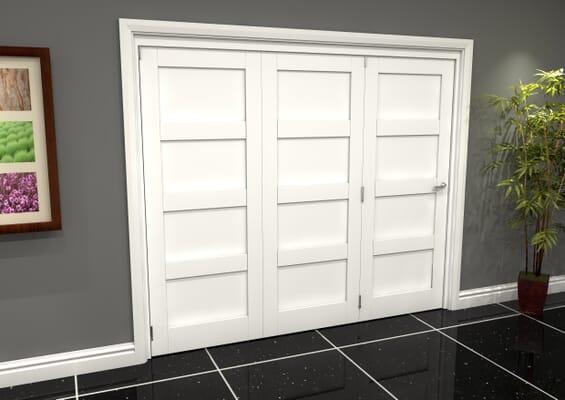 White Shaker 4 Panel 3 Door Roomfold Grande (3 + 0 x 762mm Doors)