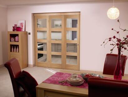 Oak 4l Roomfold - Clear Prefinished Image