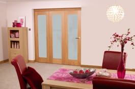 Glazed Oak P10 Frosted RoomFold Interior Doors Image