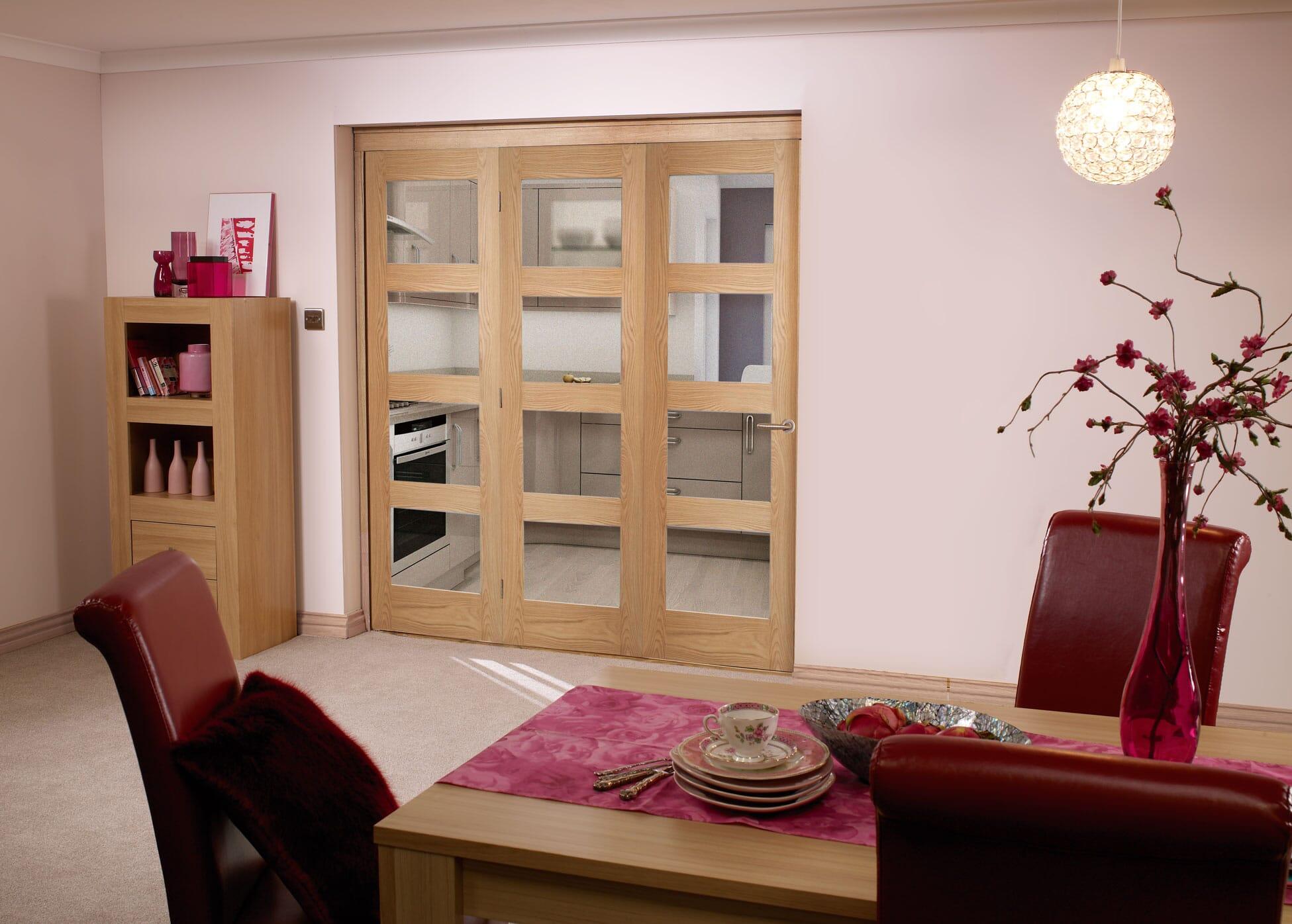 Oak 4l Shaker Roomfold - Unfinished Image