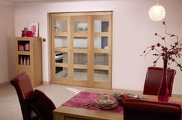 Oak 4L RoomFold Clear Unfinished Doors Image