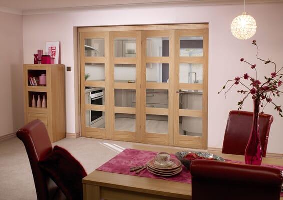 Oak 4L 4 Door Roomfold (4 x 2'3