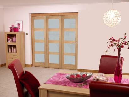 Oak 4l Roomfold - Frosted Unfinished Image
