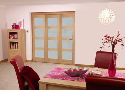Oak 4L Roomfold - Frosted Unfinished
