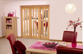 Oak Aston RoomFold Clear Room Divider Doors Image