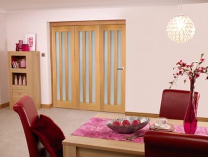 Oak Aston Room Fold - Frosted Image