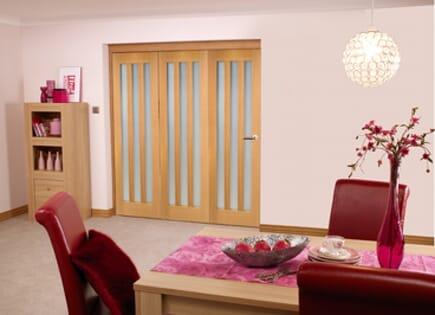 Oak Aston Room Fold - Frosted