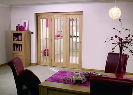 Lincoln Unfinished Oak Bifold Door Range