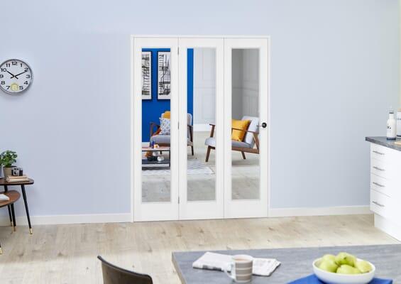 Slimline White Bifold 3 Door Roomfold (3 x 18