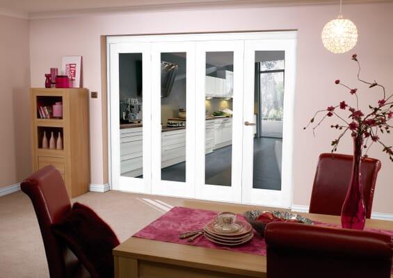 White 4 Door Roomfold 2400mm Set
