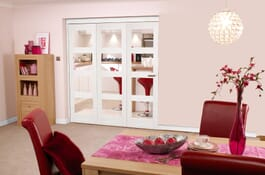 Shaker White 4L Clear RoomFold Doors Image