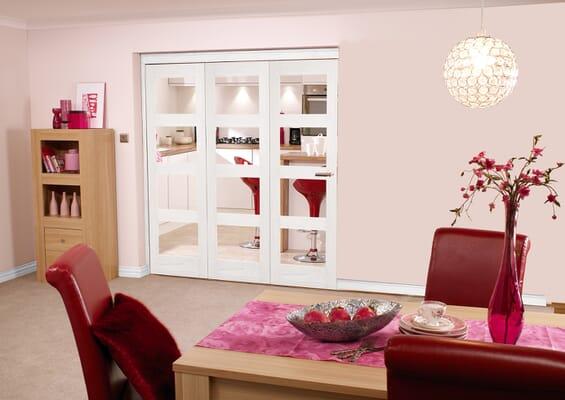 White 4L 3 Door Roomfold 1800mm Set