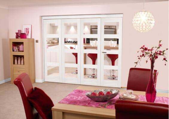 White 4L 6 Door Roomfold (3 + 3 x 2'3
